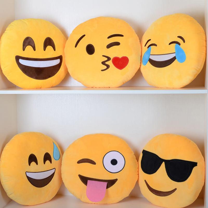 Aliexpress.com Comprar Cojín Kawaii Emoji Smiley almohada de dibujos  animados Facial expresión QQ cojín almohada redonda hogar decorativo  almohada peluche