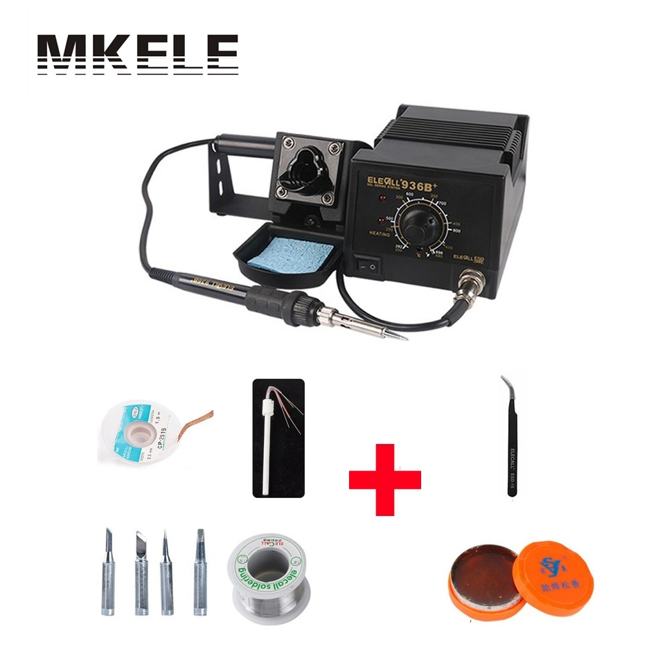 Hot Sale 75W Industrial Grade Lead-free Soldering Station Set 936B Electric Iron Welding Equipment With Lots Gift Solder China soldering station heat soldering irons soldering stand welding electric soldering iron a bf gs110d 220v 110w