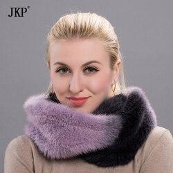 JKP winterpelz schals für frauen real nerz dicken warmen schal mode pelz schal