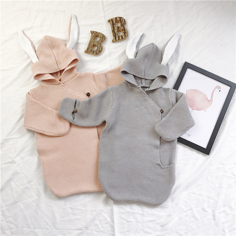 Купить с кэшбэком Swaddle Baby Blankets Newborn Muslin Super Soft Envelope for Newborns Covers Rabbit Ear Swaddling Wrap Photography Bunny Muslin