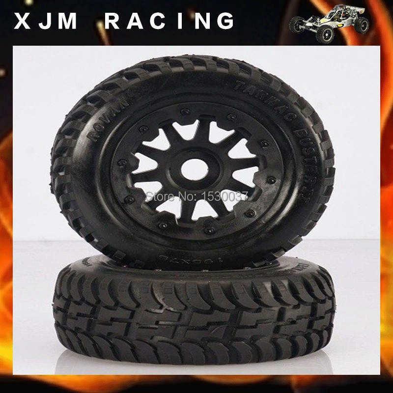 Rear off-road Wheel Tire Rim set fit HPI KM Rovan baja 5T 5SC king motor truck free shipping front sand buster tyres tire set with nylon wheel 2pcs for baja 5b hpi km rovan