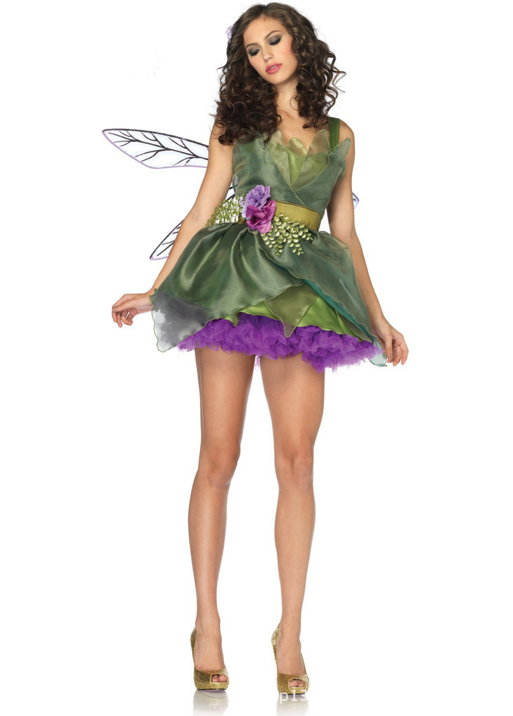 Ensen Europe Green forest elf costume cartoon font b animation b font font b cosplay b