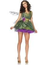 Ensen europa verde bosque elf traje cosplay de la animación de dibujos animados adulto fantasia infantil de halloween jugar dress con ala