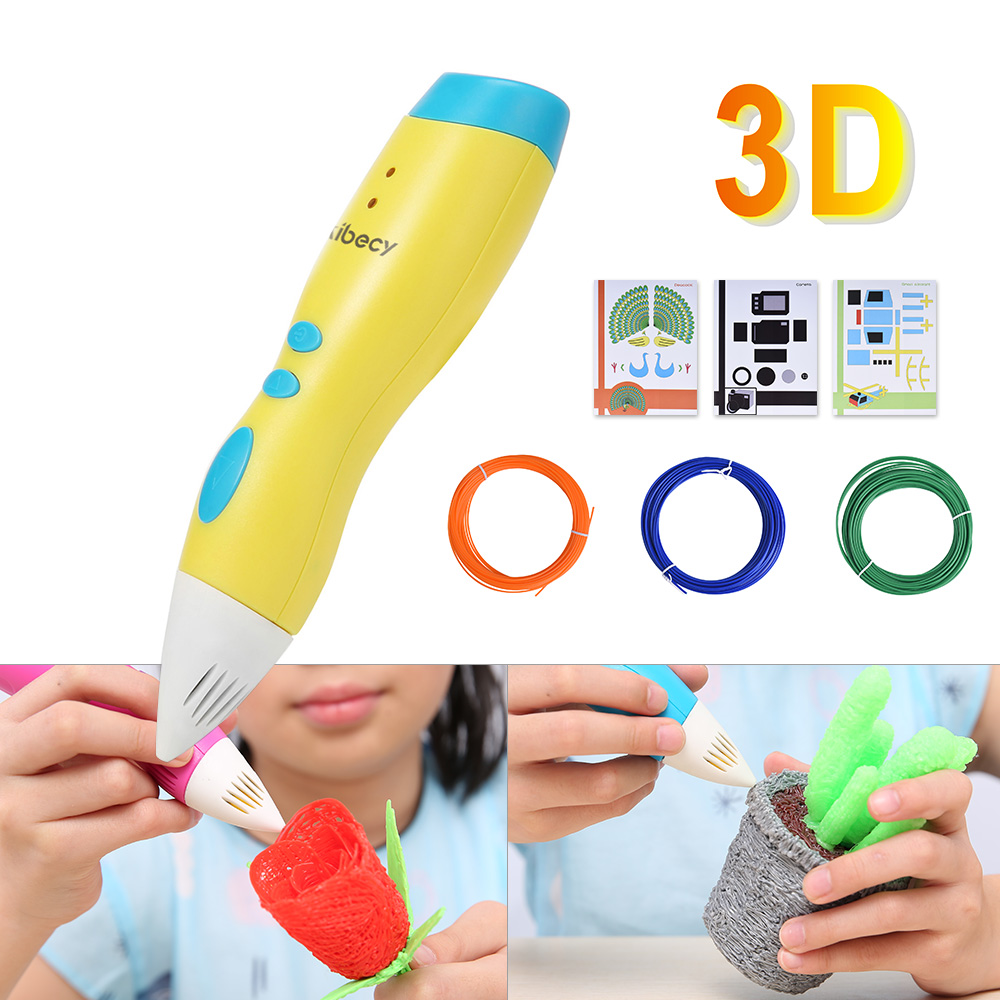 Aibecy LP02 3D Pen Low Temperature 3D Printing Pen with Rechargeble Battery for Kids Art Craft Drawing DIY Gift scribble canetas