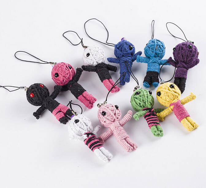 5pcs Many Style Voodoo Doll Keychains Little Voodoo Dolls Accessories For Kid Gifts