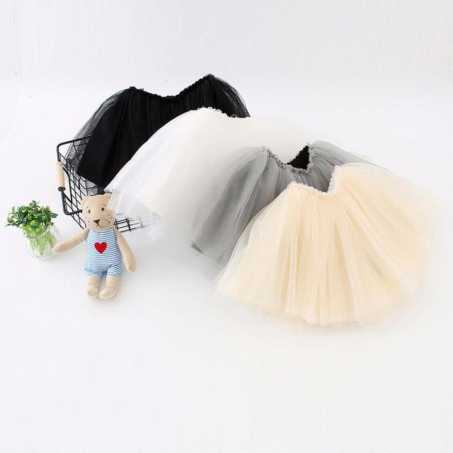 2016 Nuevo Diseño de la Falda Velo de Tul Pettiskirts Baby Girls Niños Ropa de Regalo de Cumpleaños Del Niño Faldas vestido de Bola de Partido Corto Kawaii
