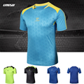 New casual compression men's quick-drying t-shirts slim fitness body-building fashion t-shirts men round collar TS136