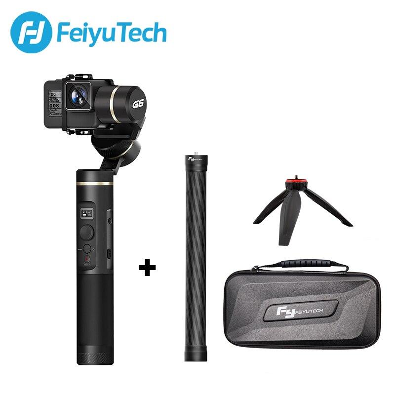 FeiyuTech G6 poignée étanche aux éclaboussures cardan Wifi + Bluetooth OLED écran Action caméra stabilisateur trépied pôle pour Gopro Hero 6 5 RX0