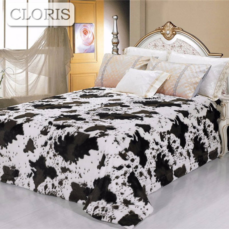 CLORIS Pure Milch Cow Blanket Sofa <font><b>Bed</b></font> Winter Summer Quilt Four Seasons On The <font><b>Bed</b></font> Bedspreads King <font><b>Size</b></font> Blanket For <font><b>Bed</b></font> Cover
