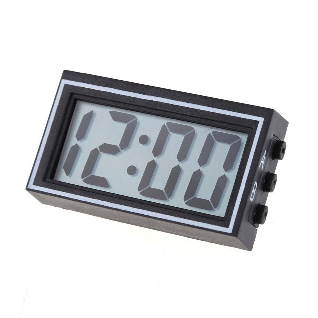 Mini Digital Calendar LCD Auto Car Truck Dashboard Date Time Calendar Clock Black