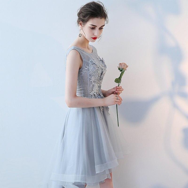 LAMYA Vintage hoge lage prom jurken vrouwen elegante avond feestjurk - Jurken voor bijzondere gelegenheden - Foto 3
