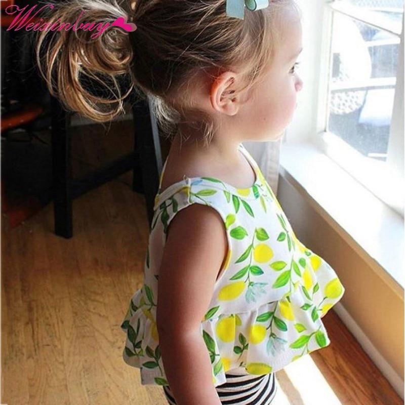 Baby Girl Dress Summer Fruit Print Cotton Dress Baby Girl Clothes Newborn Girl Birthday Princess Dress 2018