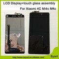 100% Probado Venta Caliente Negro Pantalla LCD TFT 1920x1080 M4C con el montaje del digitizador de la pantalla táctil de 5.0 pulgadas para xiaomi mi 4c mi4c