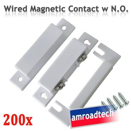 200pcs Wired Magnetic Door Window Contact Sensor Switch W
