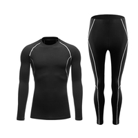 DEROACE 2018 men winter polar cycling base layers compression shirts suits running race jersey sports games