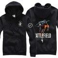 Мужская Повседневная Весна Осень Игры Battlefield 4 Толстовки Кофты С Капюшоном Пуловер Белый Черный Серый Цвет