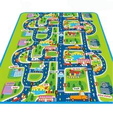 Городской дороги Ковры S для детей играть Коврики для детей Ковры Игрушки для маленьких детей rugs разработки игра-головоломка Коврики S Гома ева пены Коврики s