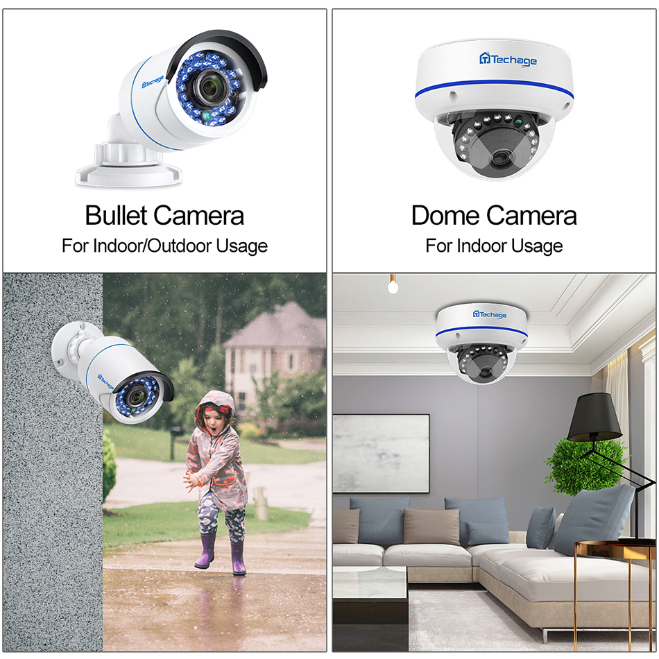 Image 3 - H.265 8CH 1080P HDMI POE NVR Kit Up To 16CH CCTV Security System 2MP Indoor Outdoor Audio Dome IP Camera Video Surveillance Set-in Surveillance System from Security & Protection