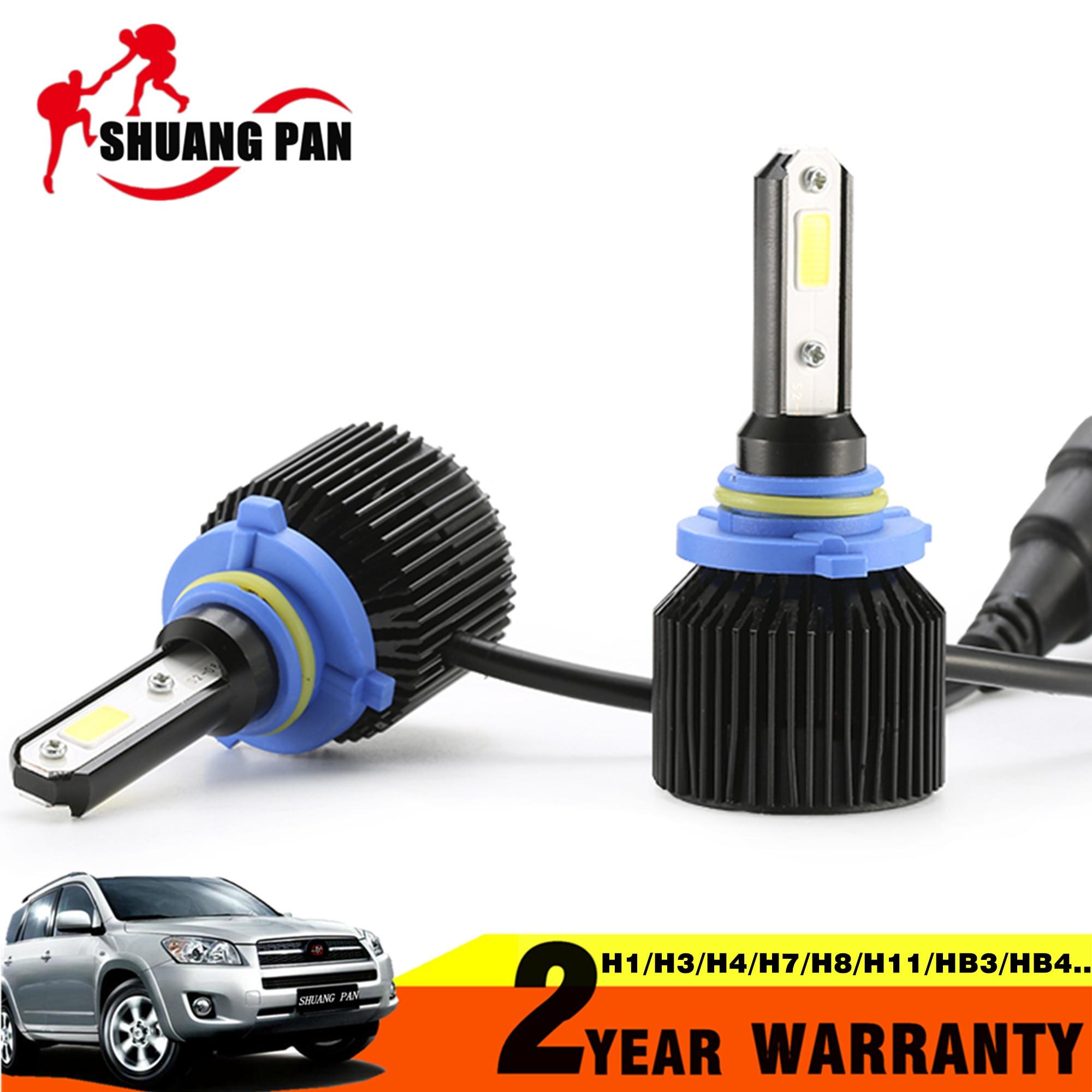 2pcs Car <font><b>LED</b></font> Headlight HB3 9005 HB4 9006 H10 H4 <font><b>H7</b></font> COB 72W 8000LM Car <font><b>LED</b></font> Headlights Bulb Fog Light 6500K 12V <font><b>24V</b></font>