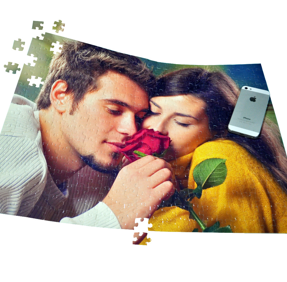 SST* 38X52CM with 408 pieces Customized Photo Puzzle Valentine Boyfriend Lover Gift Personalized Jigsaw DIY Unique Gift Kids Toy