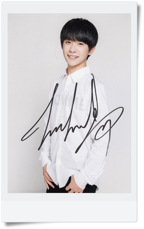 signed TFBOYS 	Jackson  autographed original photo  7 inches collection freeshipping  062017 signed haruki murakami autographed original photo 7 inches freeshipping 062017