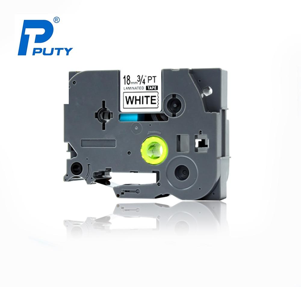 20PCS Puty compatible P touch Tape TZ TZe 241 18mm Black on White tze 241 Label