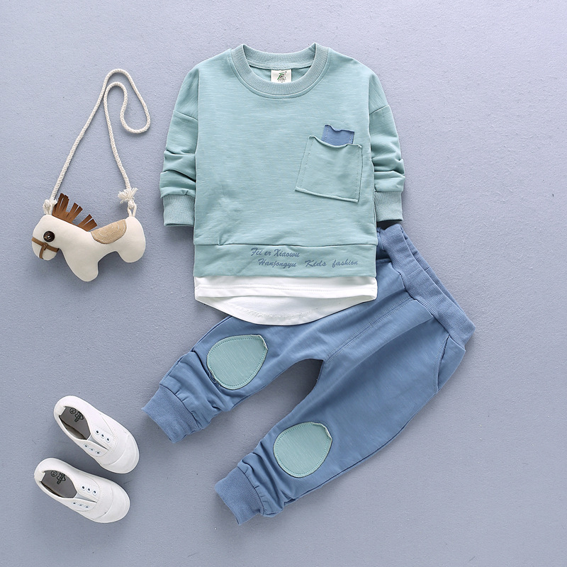 2017 New Spring Kids Clothing Set Long Sleeves T-shirt+pants  Children cotton Clothes baby girls boys Casual wear children sets