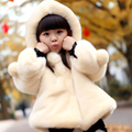 Girls fur jacket for girls clothes toddler autumn winter warm woolen coat with a hood child jacket wool coat