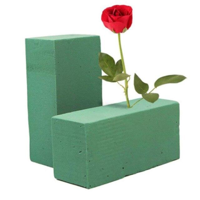 Decoração de casamento favores flor tijolo lama florista suprimentos formulário seco suporte flor oásis absorção de água para casa decoração do jardim
