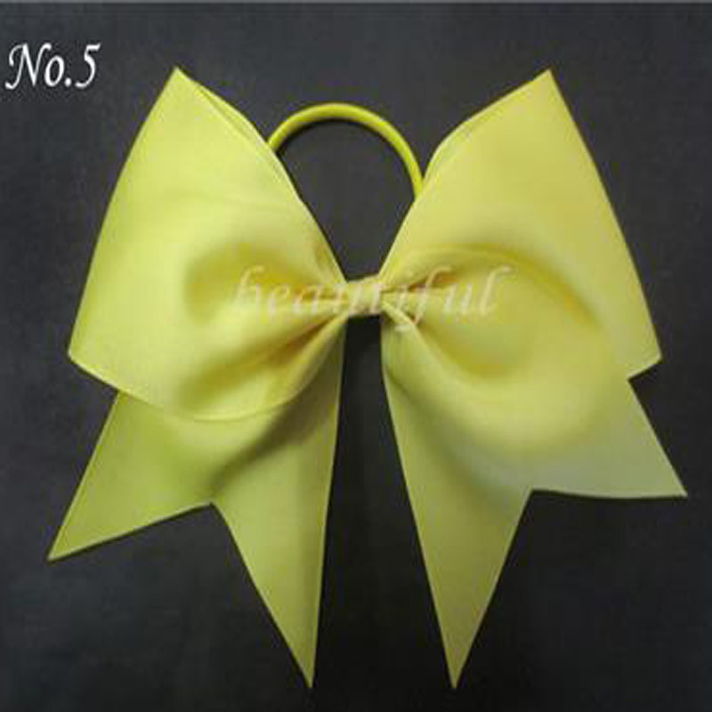 12pcs BLESSING Happy Girl Boutique Hair Accessories 7 Inch Cheer Leader Bow Elastic