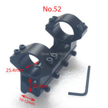 Free Shipping Hot High Profile 11mm Aluminum Integral Scope Mount 25.4mm Diameter Weaver Rail Ring