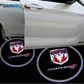 2x Coche LED luz de Puerta de Bienvenida Logo Luz Del Proyector Para Dodge calibre Ram 1500 Caravana Cargador de Viaje X5 Challenger Nitro de Neón Stratus