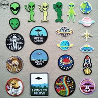 46-styles-alien-patches-for-clothing-ufo-embroidered-appliques-iron-on-astronaut-badges-stripes-planets-stickers-on-clothes