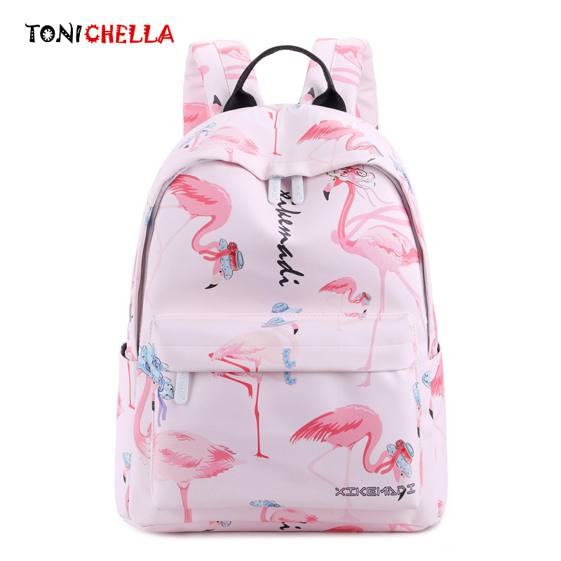 Mummy Maternity Diaper Bag Flamingo Pattern Fashion Waterproof Travel Backpack Nursing Baby Care Stroller Nappy Bags CL5346