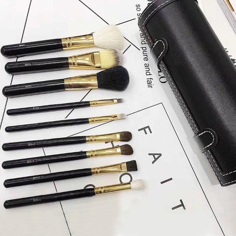Marke 9 stücke Make-Up Pinsel Set mit Halter Powder Foundation Lidschatten Make-Up Pinsel Kosmetik Weiche Synthetische Haar Pinsel