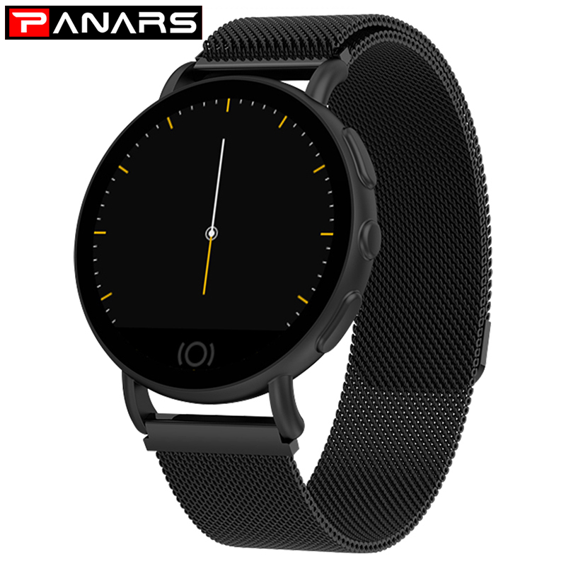 PANARS Black Smart Watch Women Fashion Heart Rate Monitor Message Call Reminder Pedometer Smartwatch For Android IOS Phone 9310PANARS Black Smart Watch Women Fashion Heart Rate Monitor Message Call Reminder Pedometer Smartwatch For Android IOS Phone 9310