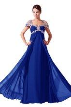 Klassische Chiffon Schatz Weg Von Der Schulter Royal Blue Abendkleider Beding Eine Linie Split Abendkleider Große Größe Nach Maß