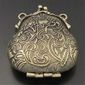 GraceAngie 2PCS Antique Style Bronze Tone Ancient Purse Locket Alloy Charm Pendants 54*45*18MM 04113 Open&Close