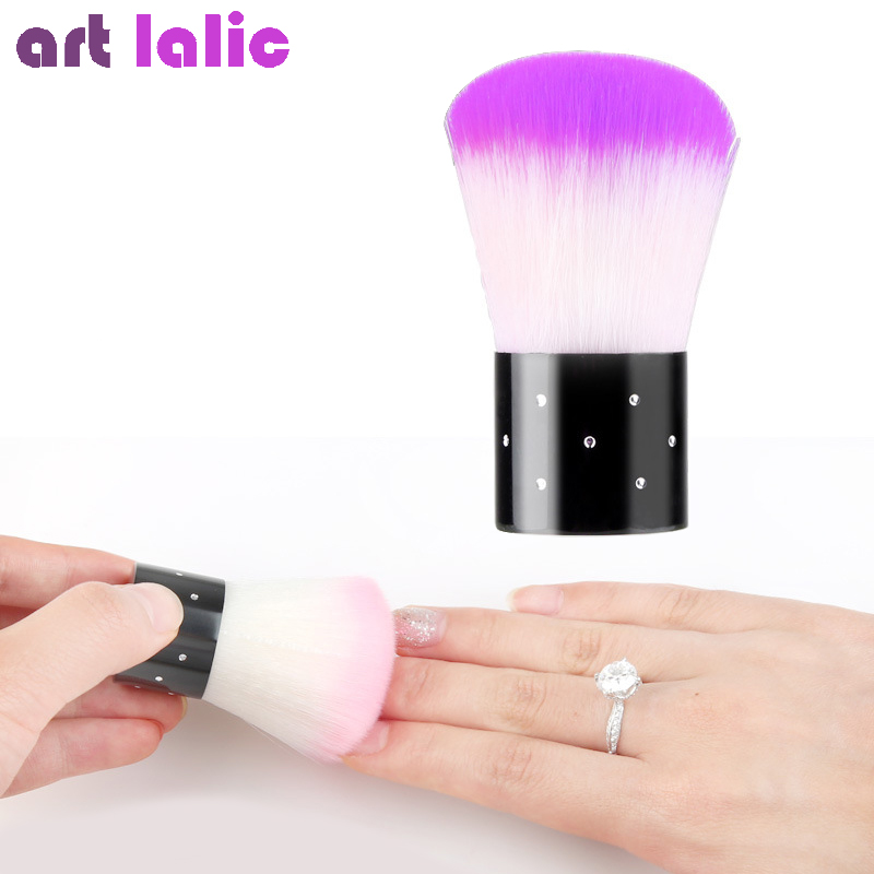 1Pc Soft Nail Cleaning Brush Nail Brush Nail Art Manicure Tools Nail Dust Cleaner Glitter Remover soft makeup brush 1pc