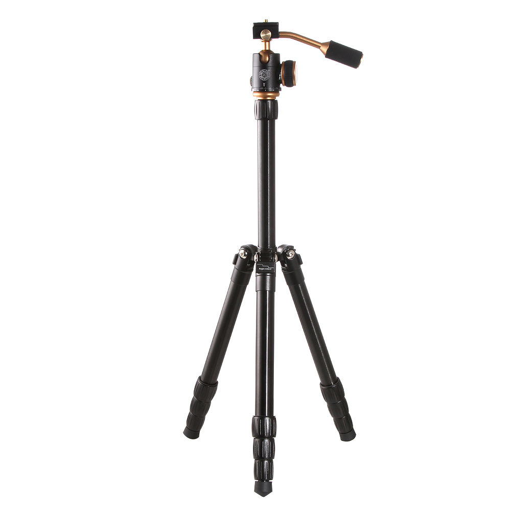 Q066 Aluminum Portable Travel Tripod Monopod + BallHead for Canon Nikon Sony Olympus Pentax DSLR Camera portable digital slr camera tripod stand ball head for canon nikon sony olympus pentax dslr dv camcorer lowangleshooting bk 555