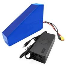 Bateria triangular de 36v, 48v, 52v, 20ah, 28ah, 35.ah, bateria ebike, super capacidade, longo alcance de trabalho motor para 500w 750w 1000w