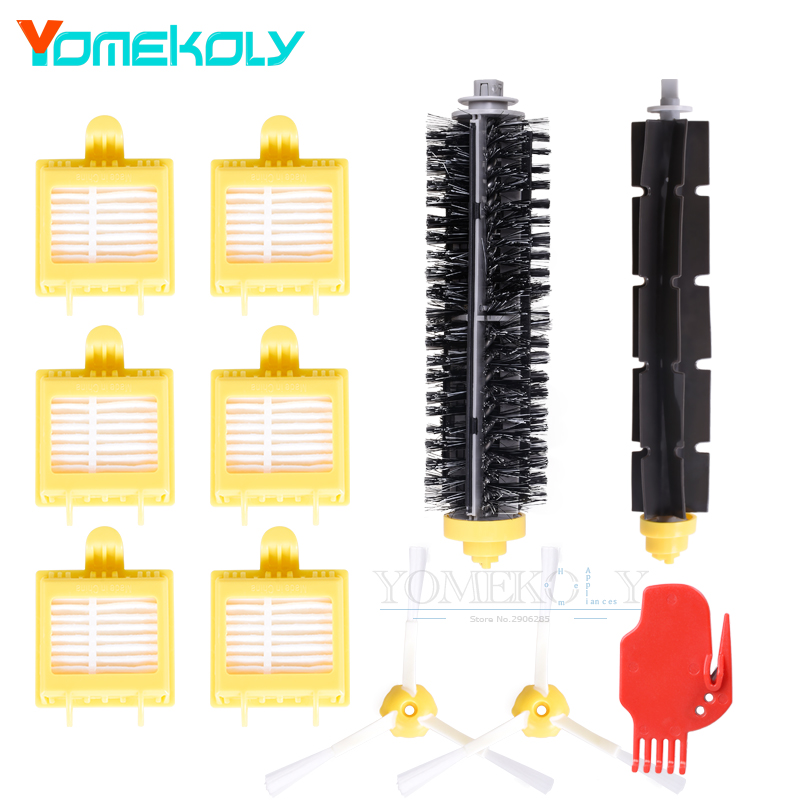 1set Bristle & Flexible Beater Brush 6PCS Hepa Filter 2PCS Side Brush for iRobot Roomba 700 Series Vacuum Robots Cleaner Parts replacement beater bristle brush hepa filter 3 armed side brush screws for irobot roomba 700 series vacuum cleaning robots