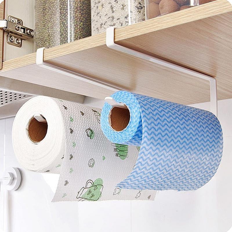 Creative Kitchen Paper Holder Hanging Tissue Towel Rack Bathroom Toilet Roll Paper Towel Holder Kitchen Cabinet Storage Rack Hot