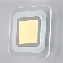 купить LED Wall Lights AC85-265V Living Room Bedroom/corridor Acrylic Ceiling Lamps Indoor Wall Lamp Modern Home Lighting Wall Mounted дешево