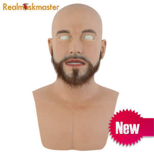 Realmaskmaster silicone adult full face mask party supplies fetish fake skin halloween latex realistic Funny Scary toy
