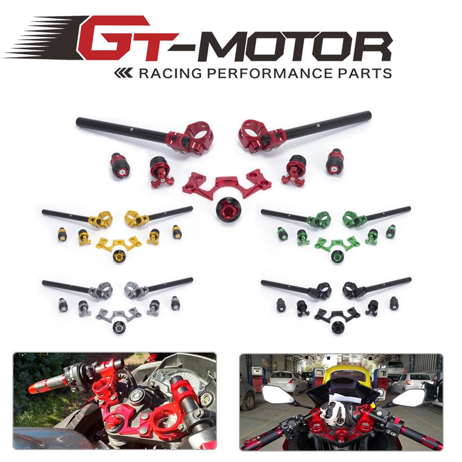 Здесь продается  GT Motor - FREE SHIPPING FULL SET Adjustable Handlebars Bar Ends For Kawasaki Ninja 250 300 2013-2016 Fork Yoke Nut Guard Pad  Автомобили и Мотоциклы