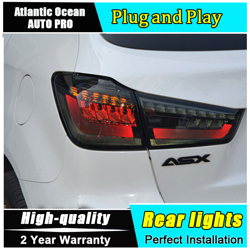 JGRT Car Styling for Mitsubishi ASX Taillights 2013-2015 for ASX LED Tail Lamp Outlander Rear Lamp Fog Light For 1Pair ,4PCS решетка радиатора mitsubishi asx 2 шт 2010 2013