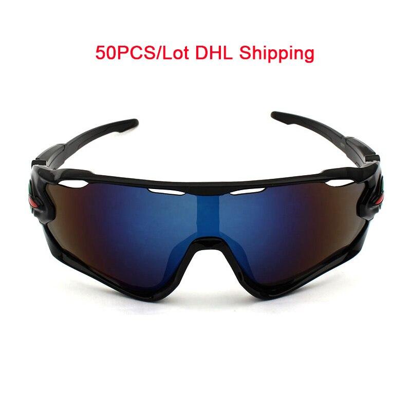 Prix pour 50 pcs/Lot Hommes Vélo Sport Lunettes Lunettes de Ski De Pêche Lunettes Anti-UV400 Femmes lunettes de Soleil Oculos Ciclismo DHL Gratuite