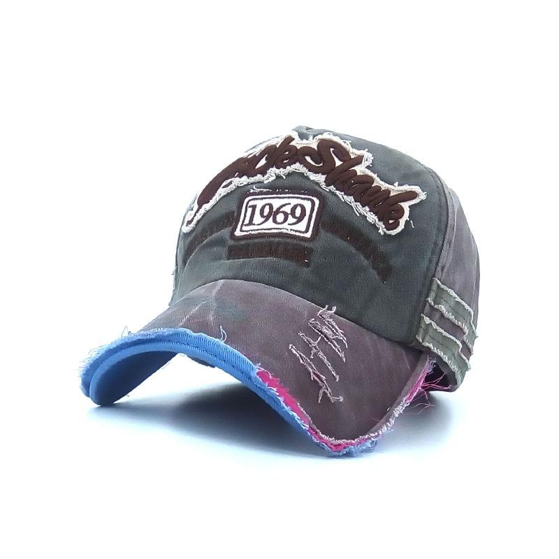 2017 summer unisex caps casual letter adjustable outdoor mens Baseball caps sun hat broken hole women's baseball cap grey blue