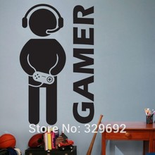 New style DIY Video Game Gaming Gamer Joystick Wall Decal Art Home Decor Wall Sticker VInyl Decoration Wall Mural Paper tx-179